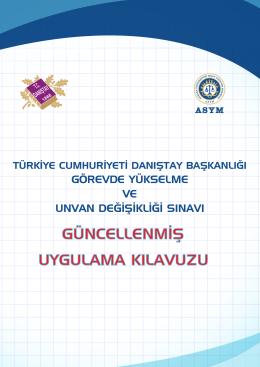 türkiye cumhuriyeti danıştay başkanlığı görevde yükselme ve unvan