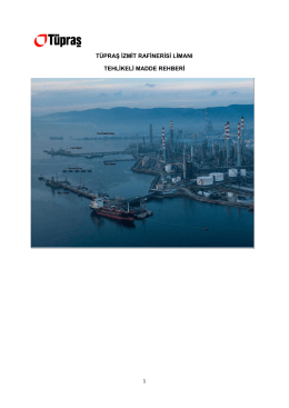 İzmit Rafinerisi Limanı Tehlikeli Madde Rehberi