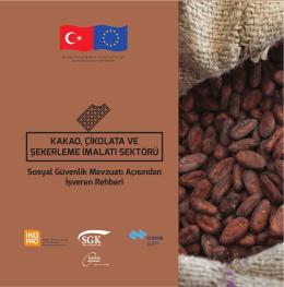 Kakao, Çikolata ve Şekerleme İmalatı Sektörü