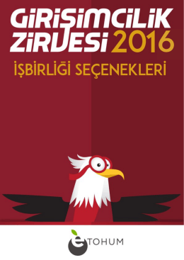 Dokümanı İndir - Girişimcilik Zirvesi 2016