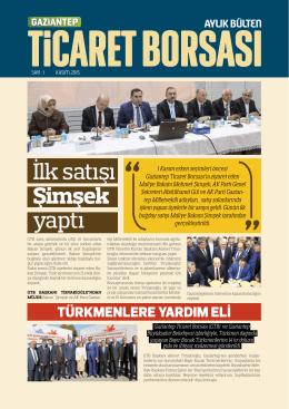 İlk satışı Şimşek yaptı - Gaziantep Ticaret Borsası