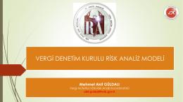 Risk Analizleri konulu konferans sunum notu 25.12.2015 tarihinde
