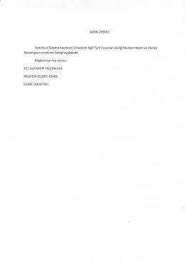 sAYlN ÜYEMiZ Bakanlığının erteleme tebliği aşağıdadır. Bilgilerinize