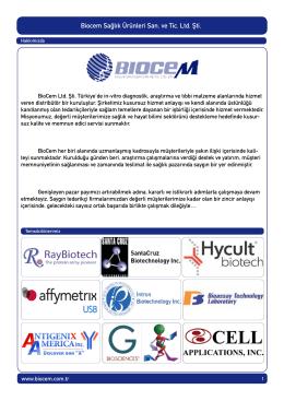 Biocem Sağlık Ürünleri San. ve Tic. Ltd. Şti.