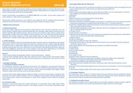 Asistans Hizmetleri Katılımcı Bilgilendirme Formu