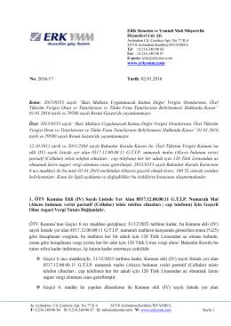 2016/17 - Cep telefonundan alınan asgari ÖTV tutarı 160