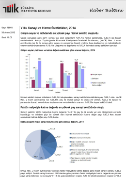Yıllık Sanayi ve Hizmet İstatistikleri-(2014