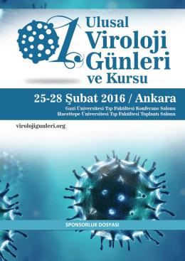 sponsorluk dosyası - 1. Ulusal Viroloji Günleri ve Kursu
