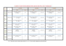 Hazırlık Sınıfları 2015 - 2016 Final Sınav Programı