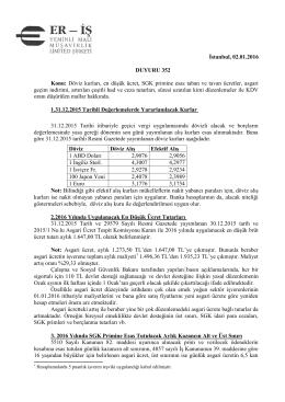 duyuru 352 - Eriş Yeminli Mali Müşavirlik Ltd. Şti.
