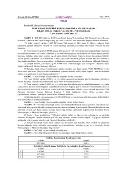 Türk Parası Kıymetini Koruma Hakkında 32 Sayılı Karara