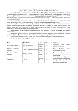 ÖĞRETİM ÜYESİ İLANI ARALIK-2 2015.docx