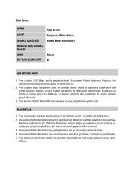 ofis koordinatörü iş tanımı - Uluslararası Af Örgütü Türkiye