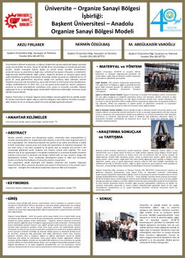 Organize Sanayi Bölgesi İşbirliği: Başkent Üniversitesi