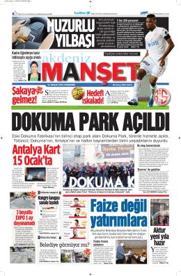 Şakaya gelmez! - Antalya Haber - Haberler