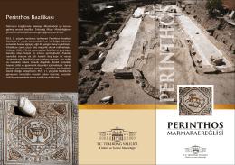 PERİNTHOS BROŞÜR.cdr - Kültür ve Turizm Bakanlığı