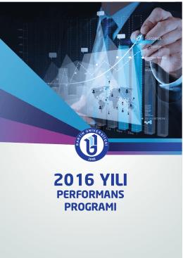 Bartın Üniversitesi 2016 Yılı Performans Programı