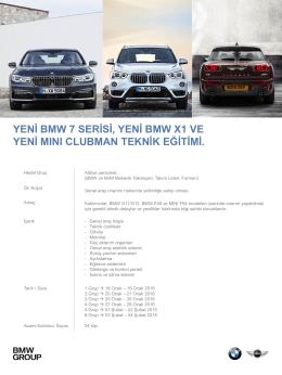 Yeni BMW 7 Serisi, Yeni BMW X1 ve Yeni MINI