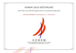 2016 Program Yılı VDA, CQI, TS 16949, ISO 9001:2015 ve Diğer