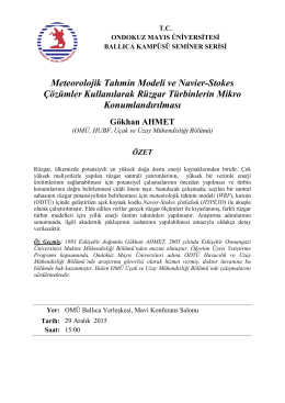Meteorolojik Tahmin Modeli ve Navier