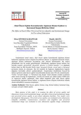 Abstract - Journal of Business Research – Turk
