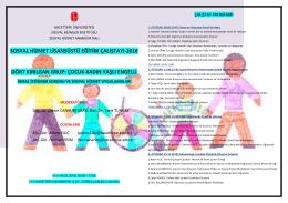 sosyal hizmet lisansüstü eğitim çalıştayı