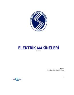 ELEKTR K MAK NELER - Sakarya Üniversitesi