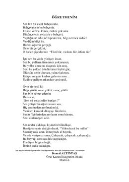 Kemal Altıntaş - kozankoleji .k12.tr