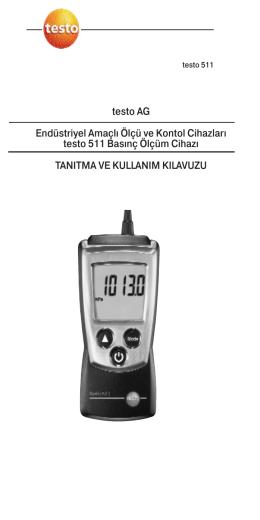 testo AG Endüstriyel Amaçlı Ölçü ve Kontol Cihazları testo 511