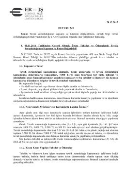 duyuru 349 - Eriş Yeminli Mali Müşavirlik Ltd. Şti.