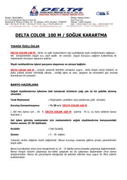 DELTA COLOR 100 M / SOĞUK KARARTMA