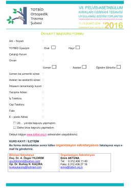ön kayıt başvuru formu
