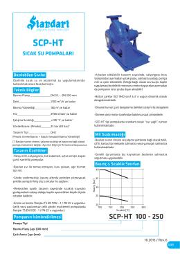 SCP-HT Sıcak Su Pompaları Teknik Döküman
