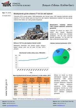 Belediyelerde günde ortalama 77 bin ton atık toplandı