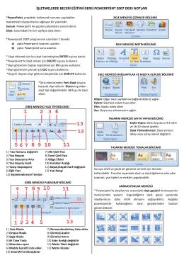 powerpoint 2007 ders notları