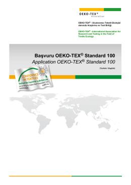 Başvuru - OEKO-TEX® Standard 100