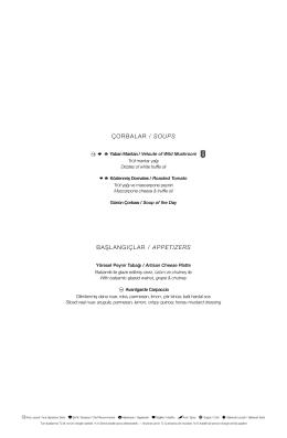 çorbalar / soups başlangıçlar / appetızers
