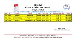 başkanlığı 2015-2016 sezonu tbhf liglerinde görev alacak temsilciler