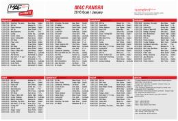 MAC Panora ders programı