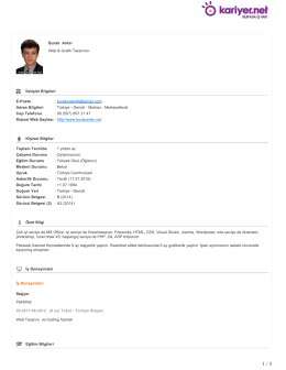 Burak Anter Web & Grafik Tasarımcı İletişim Bilgileri E
