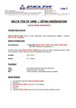 DELTA TOX ST 1000 / SİYAH OKSİDASYON