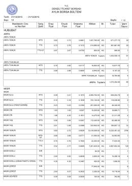 aralık 2015 aylık bülten - Denizli Ticaret Borsası