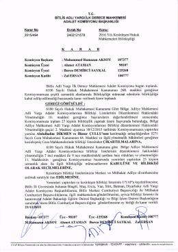 Bitlis Adli Yargı İlk Derece Mahkemesi Adalet
