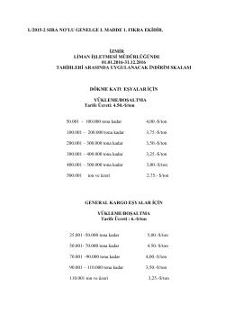 TCDD L/2015-2 Genelge Eki.