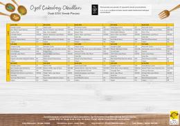 aylık yemek listesi - Özel Çakabey Okulları