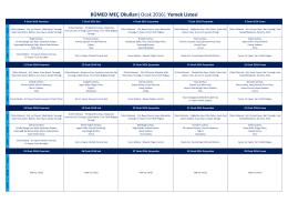 BÜMED MEÇ Okulları  Ocak 2016   Yemek Listesi