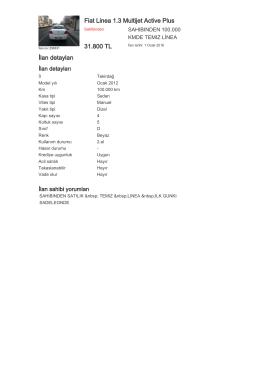 Fiat Linea 1.3 Multijet Active Plus 31.800 TL İlan detayları