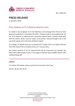 Press Release on FX Collateral Deposit Limits - 02/01/2016