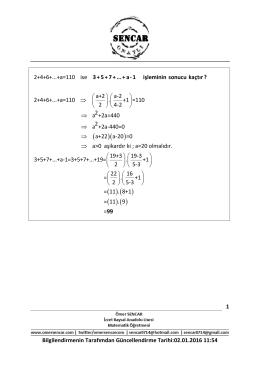 2+4+6+...+a=110 ise a+2 a-2 2+4+6+...+a=110 . +1 =110 2 4