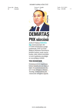 AKŞAM Demirtaş PKK sözcüsü